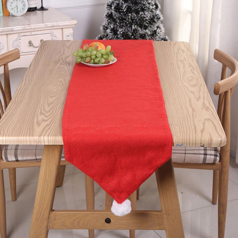 176 * 34cm Yeni Kırmızı Renk Noel Masa Bayrağı Masa Örtüsü Masa Örtüsü Mat Yemek Ev Noel Partisi Şenlikli Dekorasyon