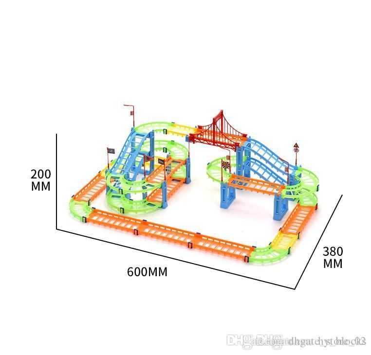 102pcs City Building Blocks Rall Car les enfants Diy Assemblée Construire Circulaire Jouets Imagination Inspire Conception Divers Forme Transport ferroviaire 03