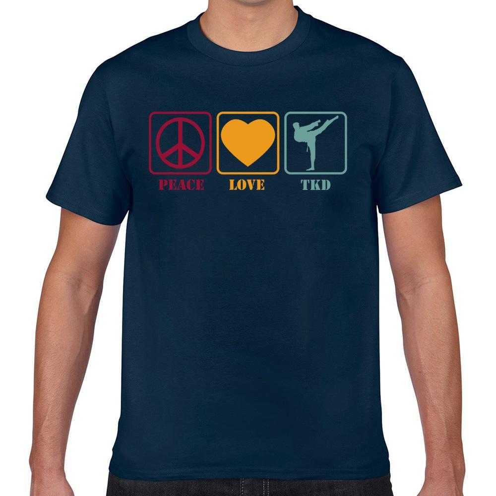Tops T-shirt Hommes Taekwondo Tkd d'amour de paix de style rétro drôle Harajuku geek Imprimer Homme T-shirt Xxx