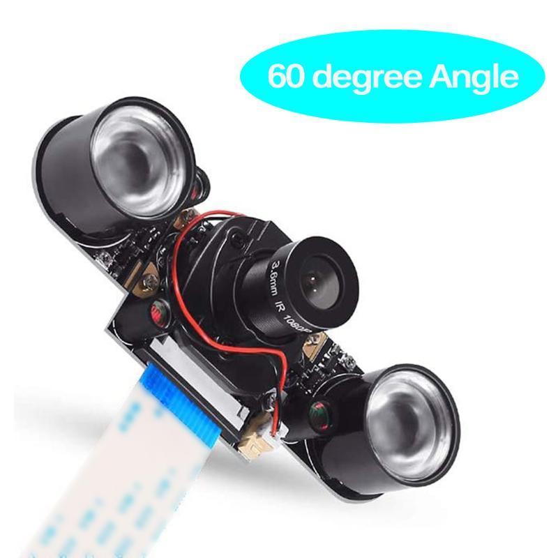Модуль камеры OV5647 датчик 60/130 Степень ночного видения Focal Регулируемое 5 Megapixel 3.6mm Фокусное расстояние 3,3 Электропитание