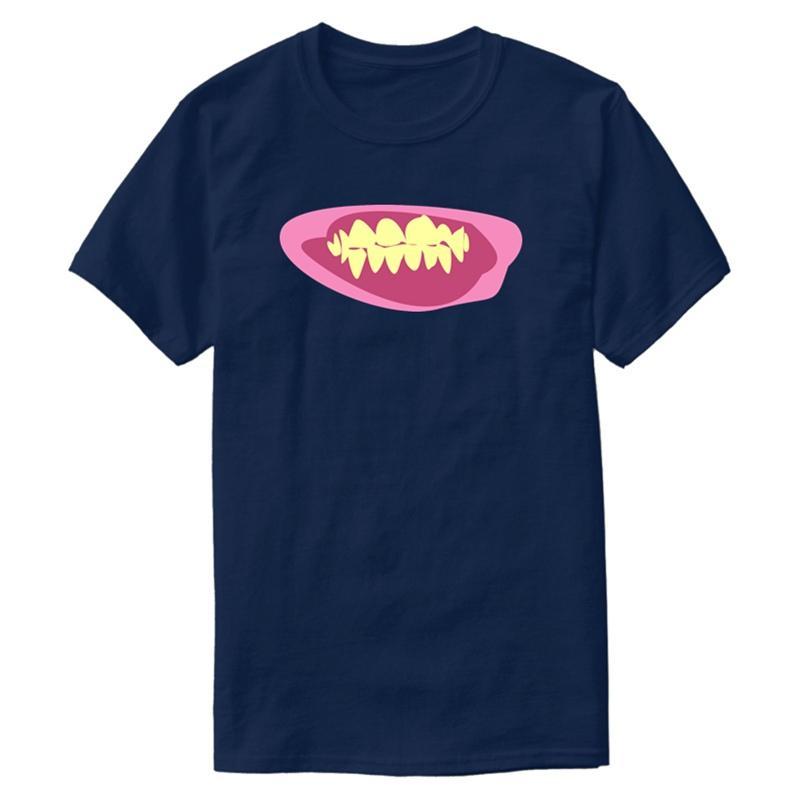 Nuevo estilo divertido cómic Dientes Camiseta para los de algodón para hombre cuello redondo de ropa camisetas de gran tamaño S-5XL Camisetas Pop primer golpe