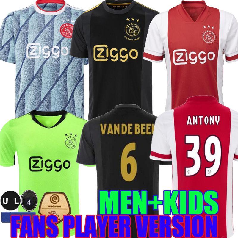 20 21 ajax amsterdam 50e de football FC 2020 TROISIÈME anniversaire 2021 ÁLVAREZ Huntelaar NERES TADIC hommes enfants gardien chemises de football