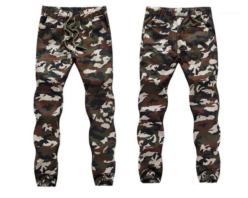 Clothes Mens Designer Cotton Cargo Pants Camouflage Printed Mid Wasit Jogging Trousers Sports Style Casual Male