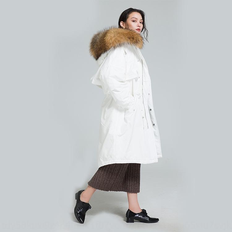 ceket aşağı LYAej ve Kadın 2019 sonbahar y65zr palto yeni moda Kore tarzı ceket orta boy bel kapsayan peluş beyaz d kalınlaşmış
