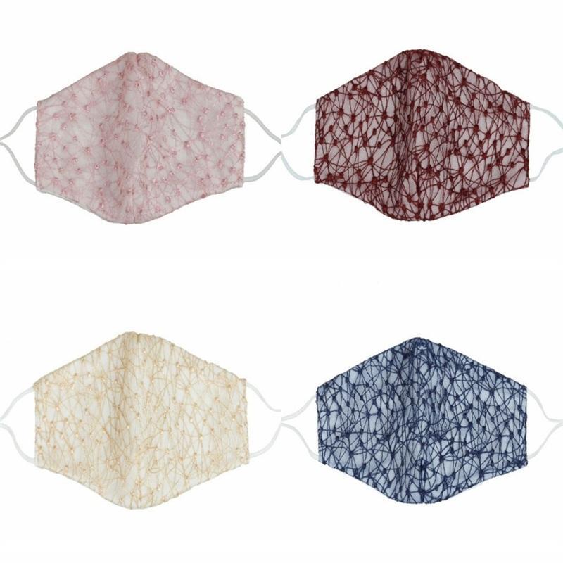 أقنعة الدانتيل القطن الغبار الوجه Muticolor أزياء Mascarilla قابلة لإعادة الاستخدام المضادة مساء 2.5 الكبار Mascherine قابل للغسل مخصص للأطفال 4 C2 5xmc