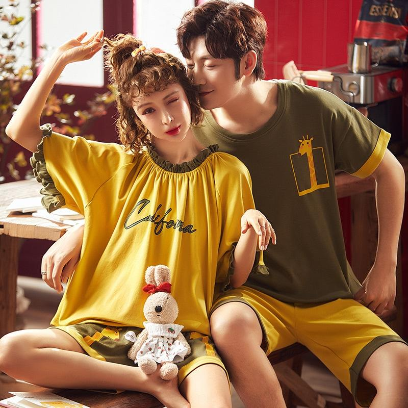 CViNu zFzb0 grande quantité et excellent prix quelques pyjama à manches courtes vêtements d'été décontracté style coréen maison des femmes des vêtements hommes sho