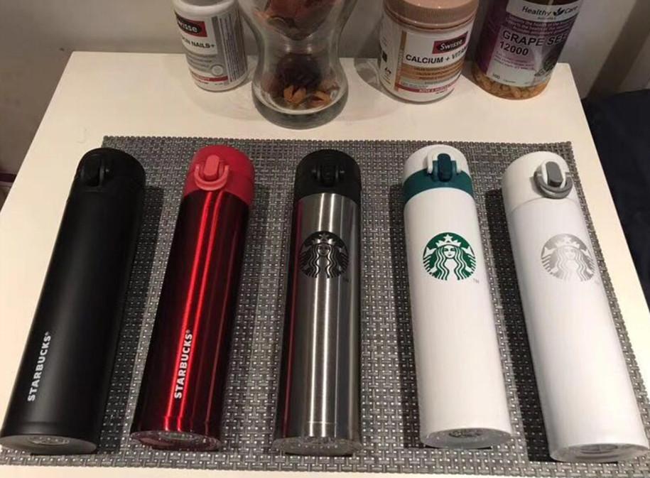 La dernière tasse Starbucks de 13,5 oz, une tasse de café en acier inoxydable, de nombreux styles à choisir, couvercle pop-up portable, support pour le logo personnalisé