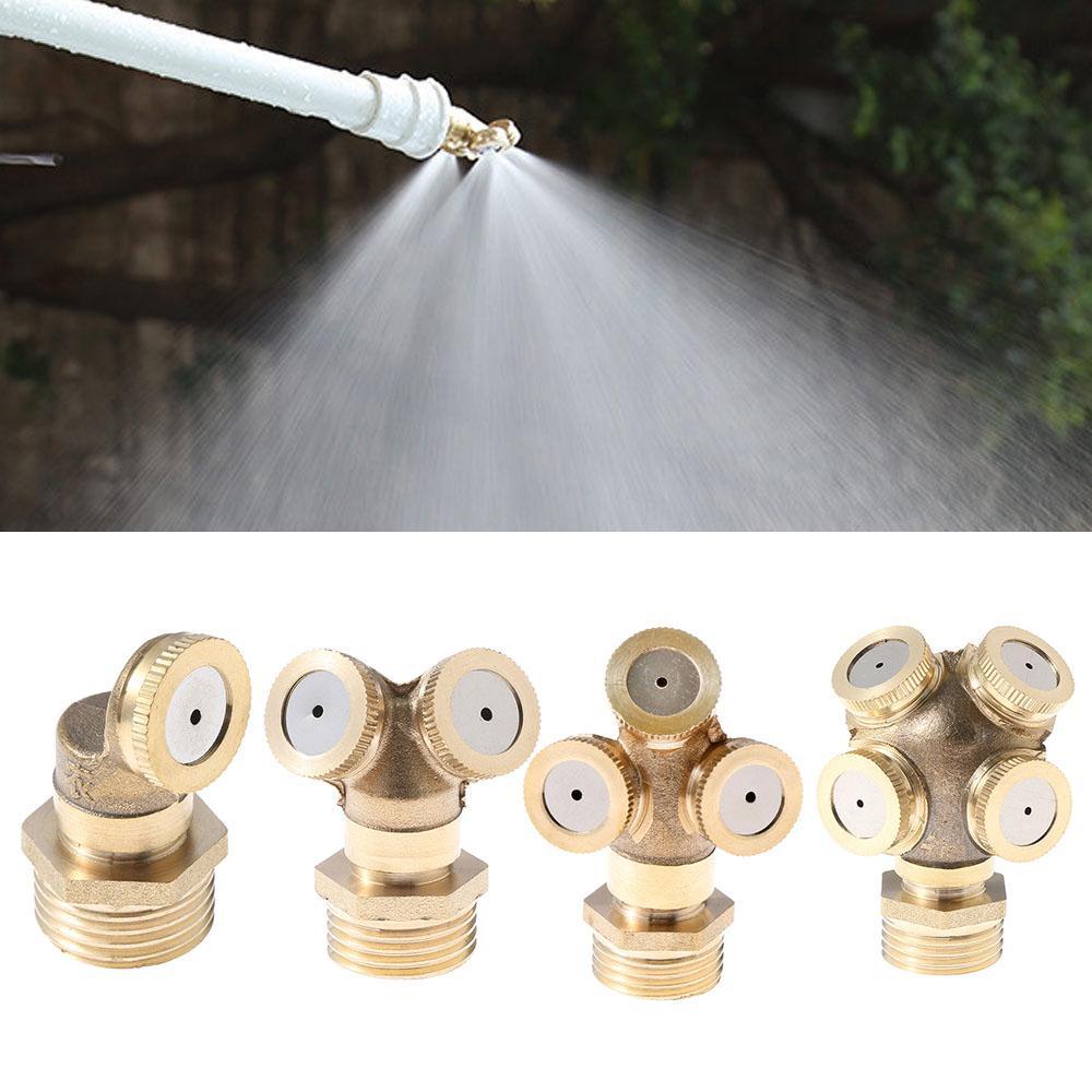 "1/2"" Brass Atomizing Spray Fitting Nebulizer Hose Connector Misting Nozzle Adjustable Garden Irrigation Mounting Water Sprinkler"