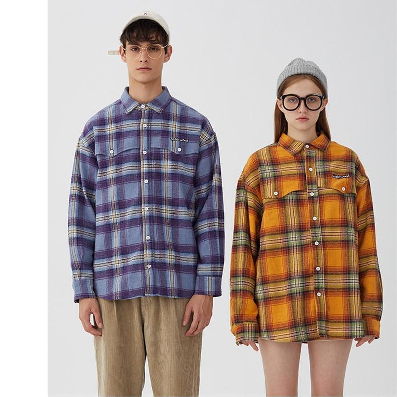 ICPANS 2020 LONGUES Hommes Femmes Couple Streetwear Camisa hommes blouse Hombre bouton à manches longues de chemise d'été Printemps
