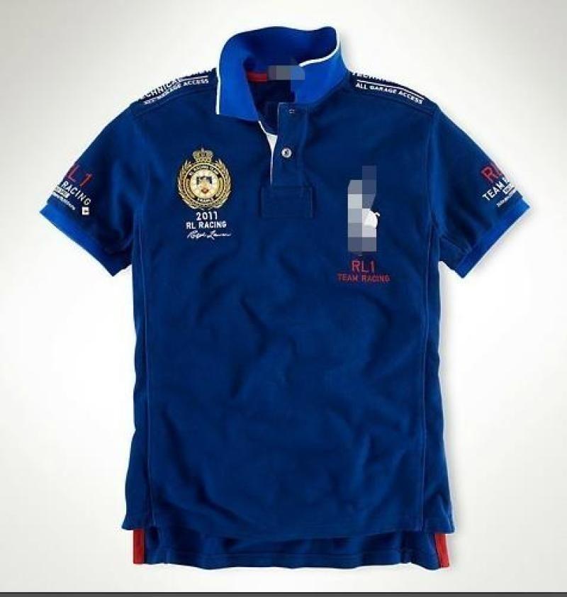 Blu scuro Due di stratificazione del colore Striscione Letter doppio del denaro T-shirt 2126 uomini