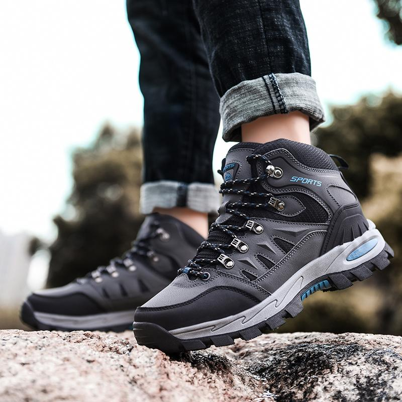 Hiking Boots Unisex Breathable Trekking Shoes Waterproof Climbing Shoes Non slip Walking Shoes Outdoor High Top Mountain Sneaker