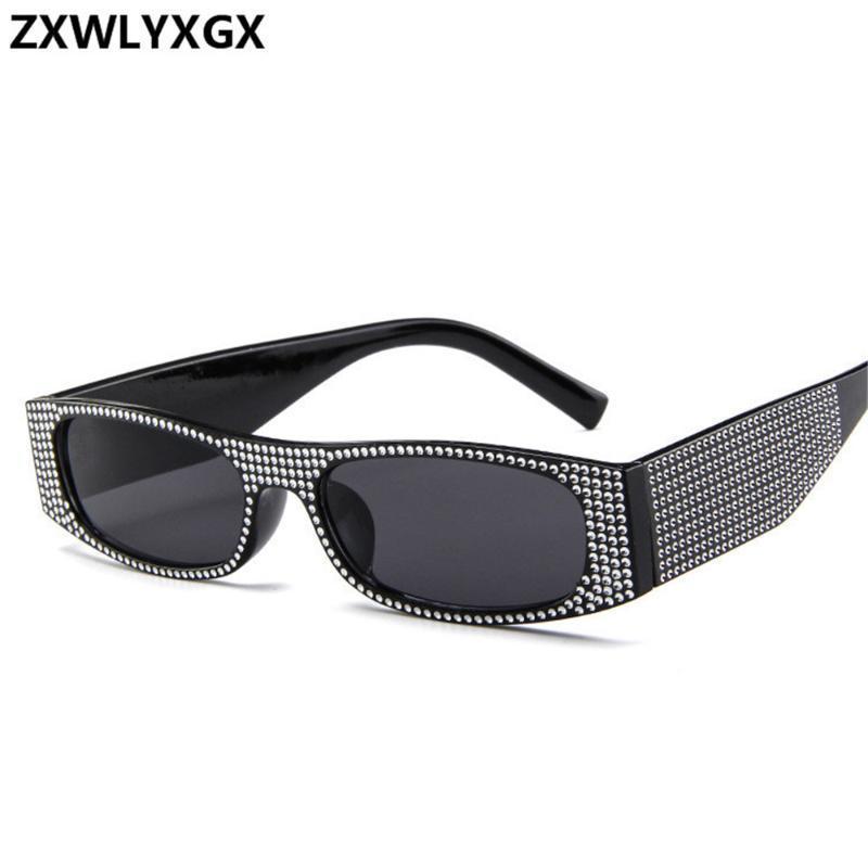 Мода Малый квадратные очки женщин имитация алмазов ВС очки Ретро очки для женских Оттенки зеркало UV400