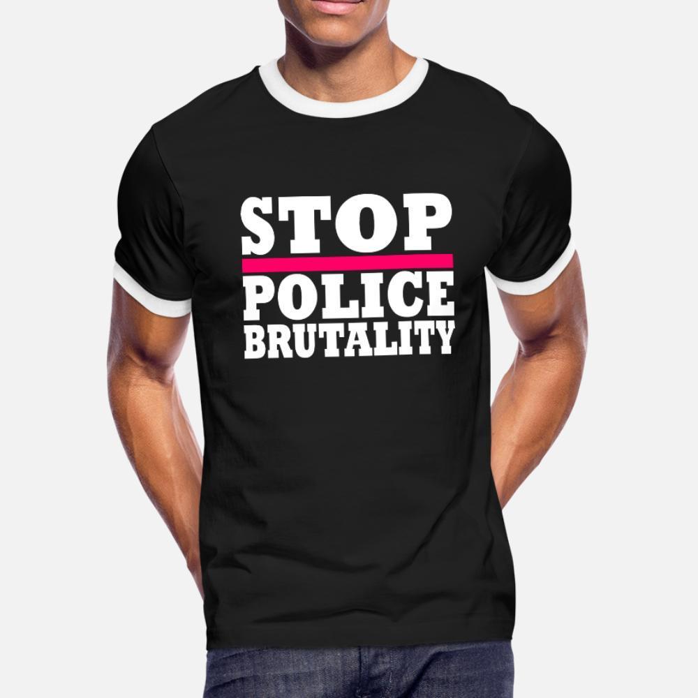 Arresto Police Brutality uomini della maglietta Stampa tee shirt girocollo regalo normale camicia lettere autentiche estivi