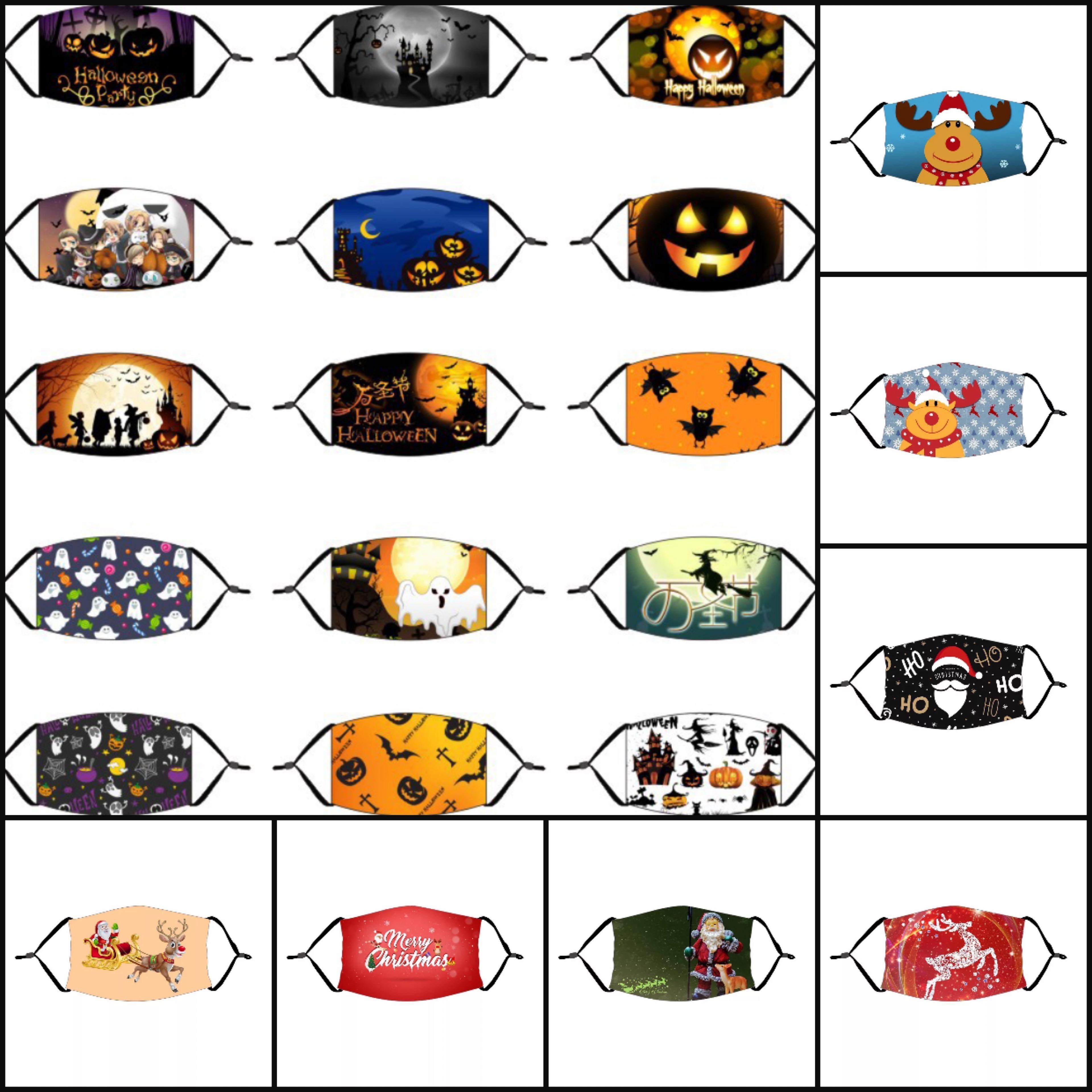 Halloween-Kürbis-Clown-Schädel-Masken-Weihnachtsweihnachtsmann-Rotwild Weihnachtsbaum Maske Cartoon Staubdichtes Gesicht für Erwachsene Kinder mit Filtermaske