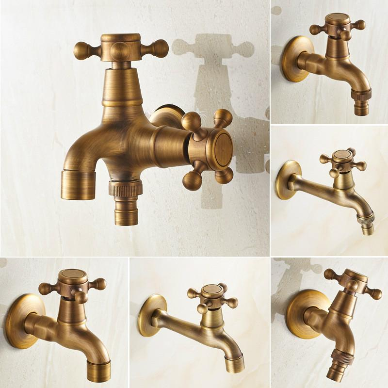 Vintage Dual Use Faucet Bathroom Wall Mounted Single Cold ...