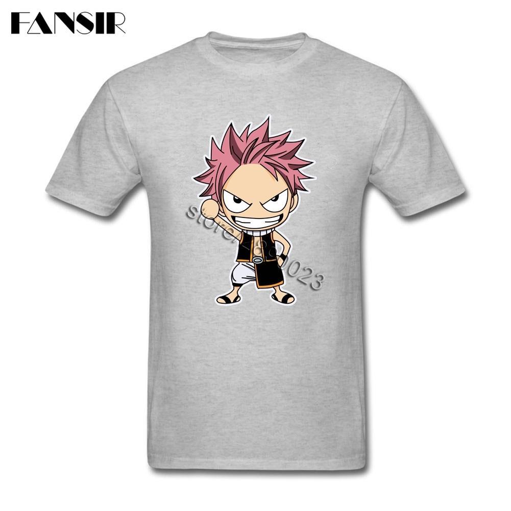 Основной стиль Мужские футболки Fairy Tail коротким рукавом Хлопок O шеи футболки для мальчика футболка