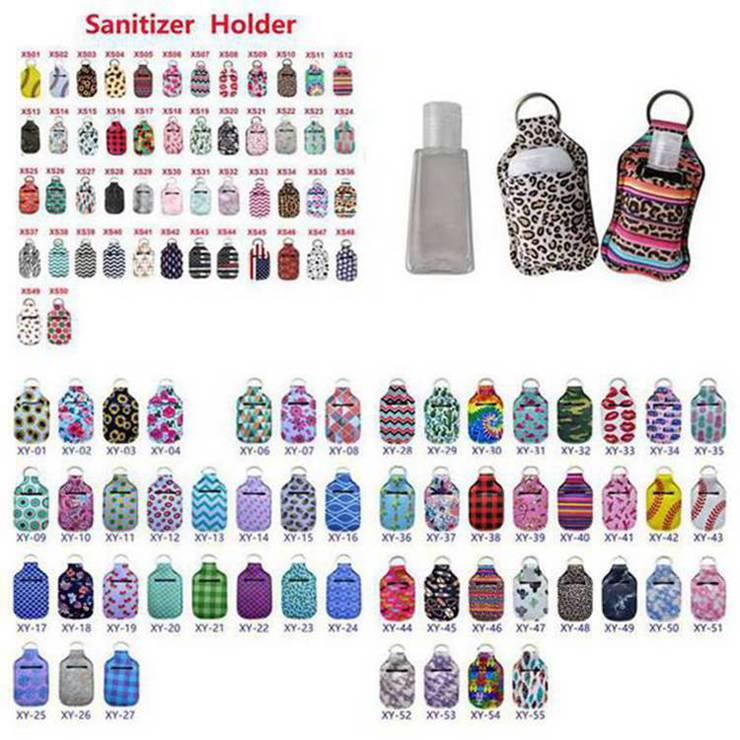 Неопрен дезинфицирующее средство для рук держатель бутылки брелок сумки 30мл 10 * 6см Key Rings мыло для рук держатель бутылки благосклонности партии 1000шт