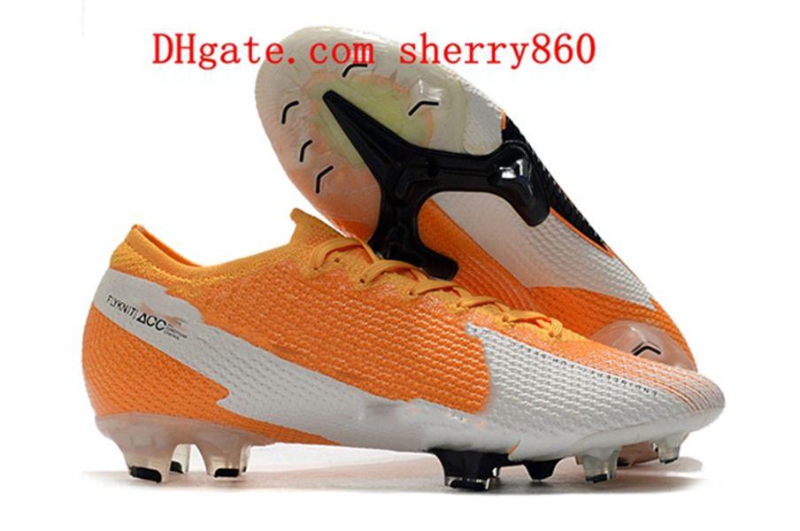 2021 Qualità Mens Scarpe da calcio Scarpe da esterno tacchetti Mercurial Suprefly 13 Elite FG Boots Boots Scarpe da calcio Corea del Sud rosso