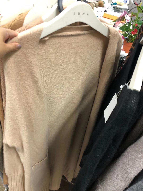 UJA6X Frauen Strickjacke gestrickt Herbst / Winter 2020 Knie New Mantel Pullover halbe Länge verdickt koreanische Art loser Pullover Mantel über die langen