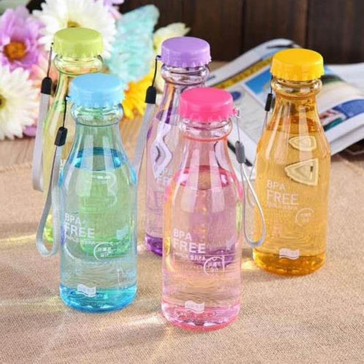 Plastic portable non-breakable soda bottle, sealed cup, water bottle, portable leak-proof cup for summer students