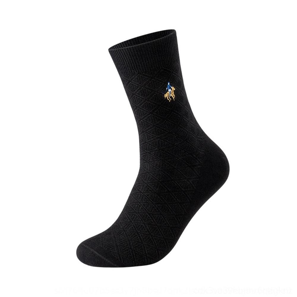 MgVHn PierPolo New 2019 business stockings and formal men's stockings middle suit black socks men's Socks