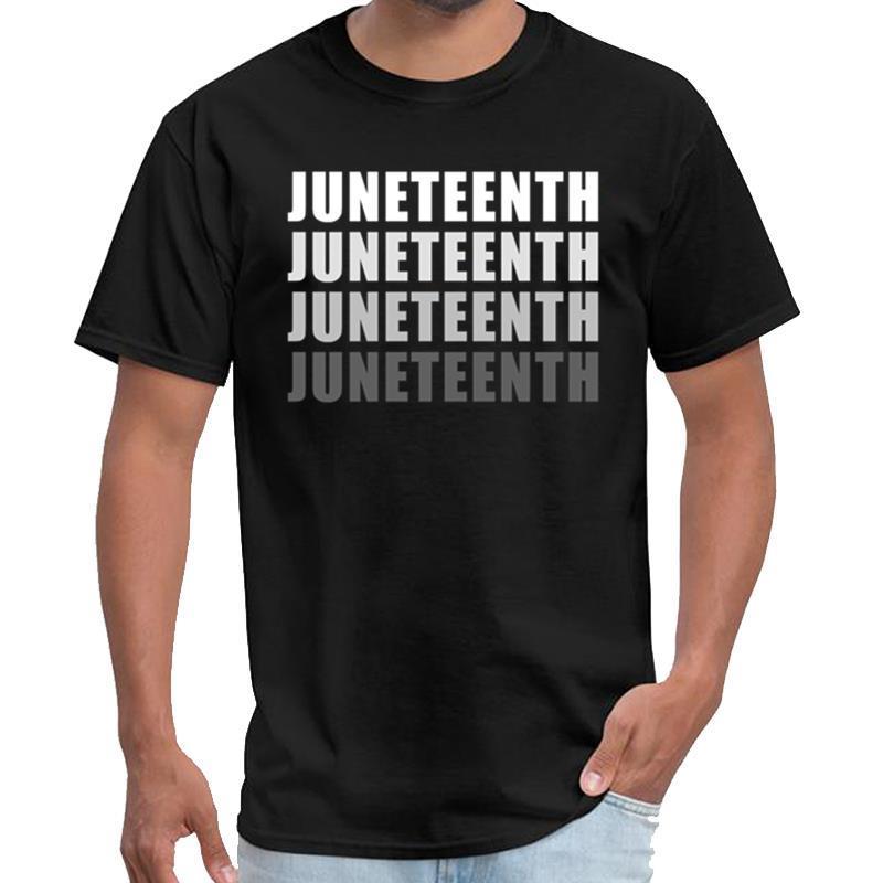 Yazdırma hediye Juneteenth 1865 Bağımsızlık Celebratio taban tabana endüstriler t gömlek çocuk t shirt casa de papel XXXL 4XL 5XL tee yana