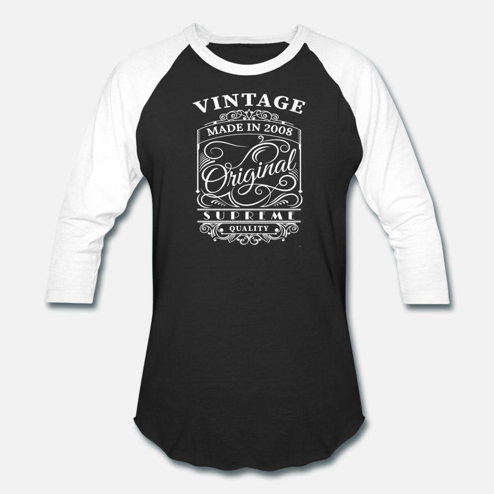 Vintage Made Nel 2008 uomini della maglietta cotone formato design originale S-3XL standard svegli di nuovo stile di stile di estate camicia sottile