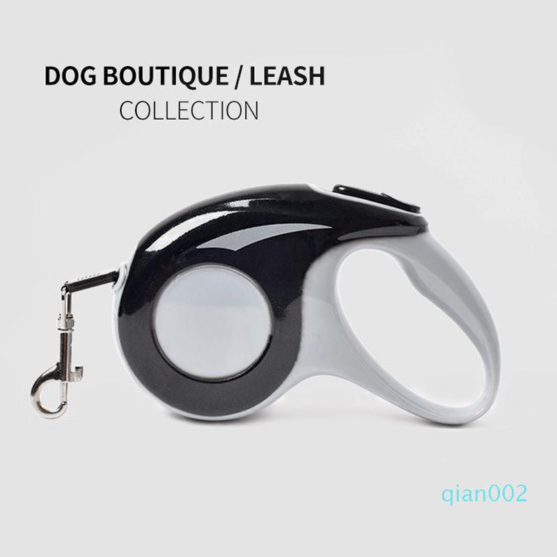 Roulette-Hundeleine Automatisch einstellbare Außen Fuß Haustier-Leinen 5M 3M für Cat Small Medium Big Dog Zugseil Traktion Blei