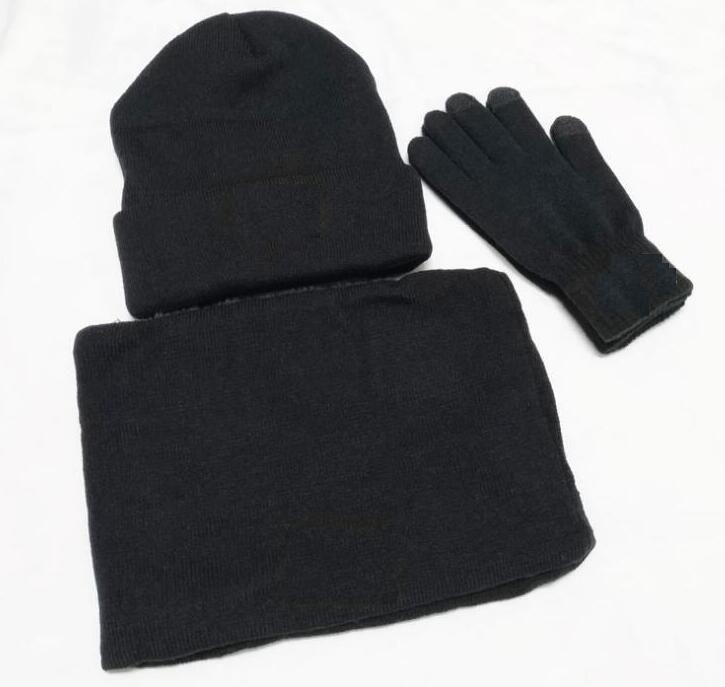 جديد مصمم القبعات والأوشحة قفازات مجموعات الأزياء وشاح قفازات قبعة الباردة الطقس الملحقات الكشمير هدية مجموعات للرجال النساء
