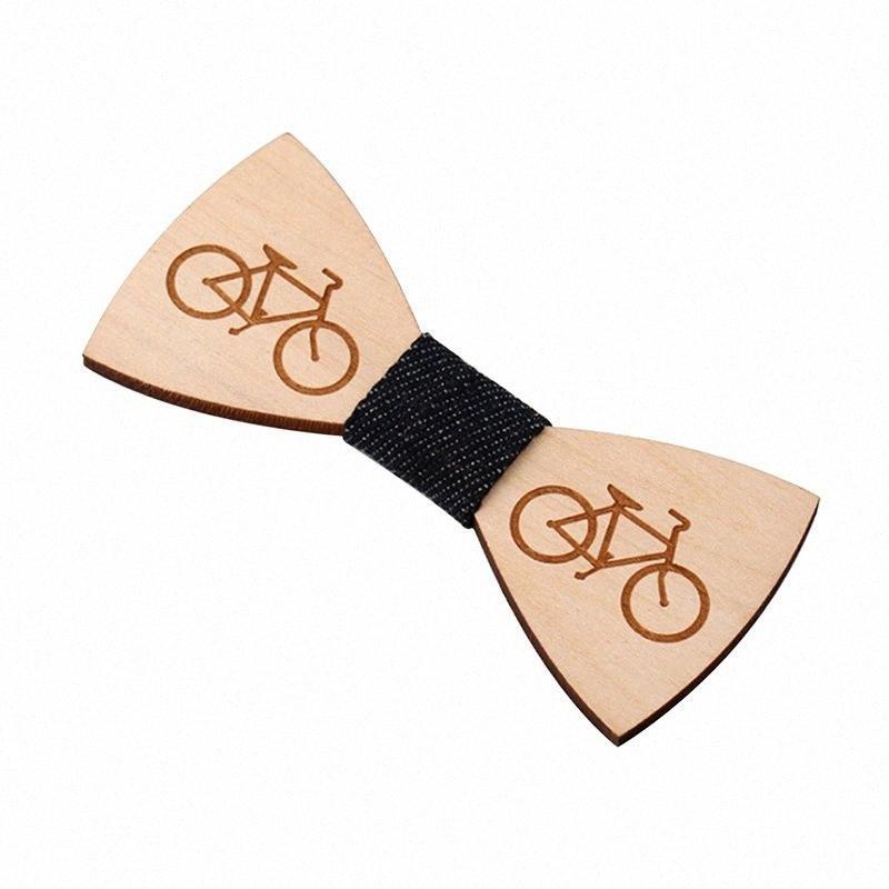 Kostüm Dekor Bow Tie Ekose / Baskı / Geometrik Şık Hediyeler Ahşap Bow Kravatlar Parti Kelebek Kravat Bisiklet OcYm #