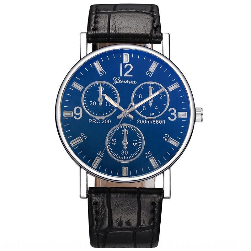 GINEVRA blu orologio al quarzo reale della cinghia della vigilanza uomini di modo delle donne neutri