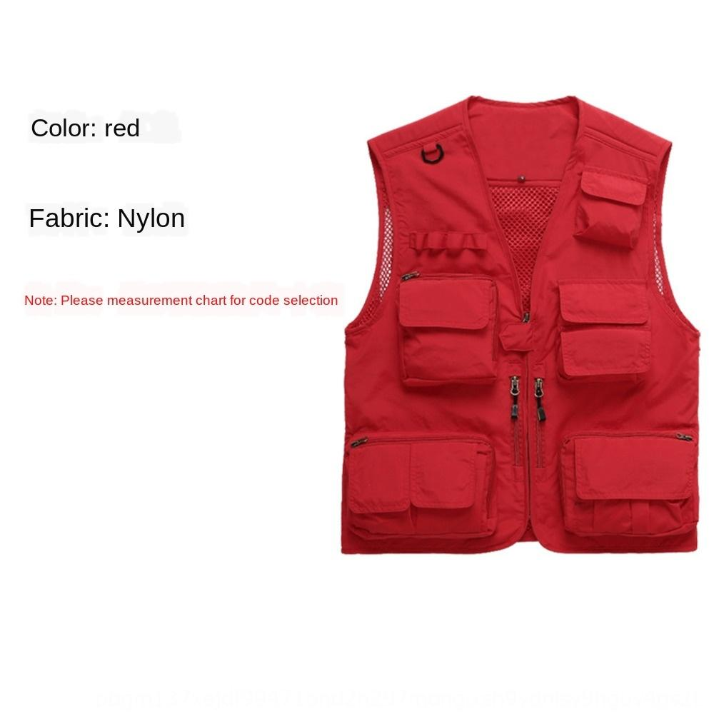 TJbRx Outdoor multi-pocket fishing photography advertising media male Enterprise team Outdoor multi-pocket fishing vest photography advertis