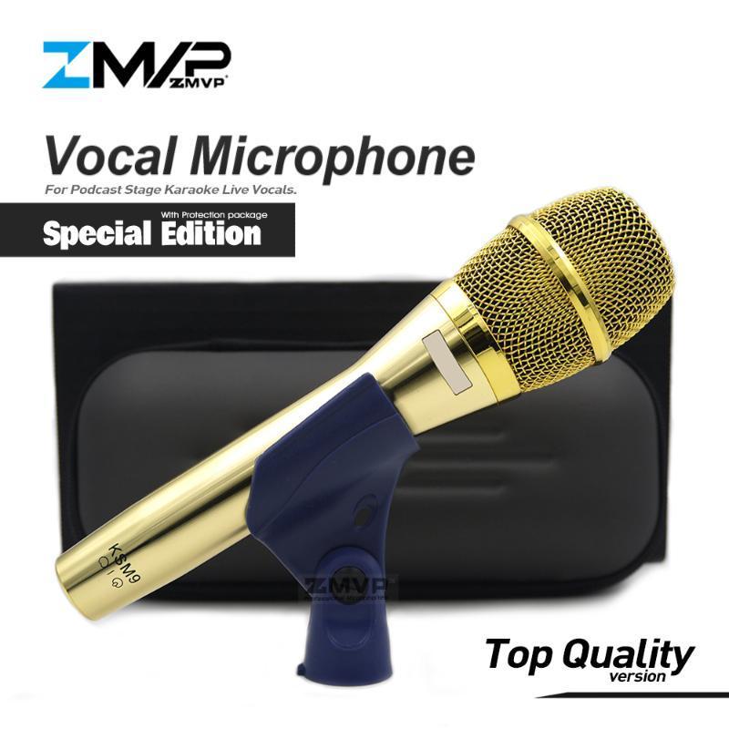De calidad superior Special Edition Profesional vivo Vocales KSM9G atado con alambre dinámico del Karaoke del micrófono supercardioide Podcast Mike Mic