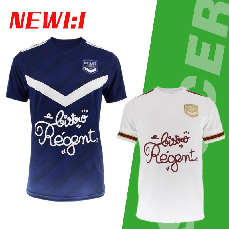 20 21 Girondins de Bordeaux maillots de football 2020 2021 maillot de pied BRIAND S.KALU KAMANO DE BENITO Kit Oudin hommes pour enfants BASIC maillot de football