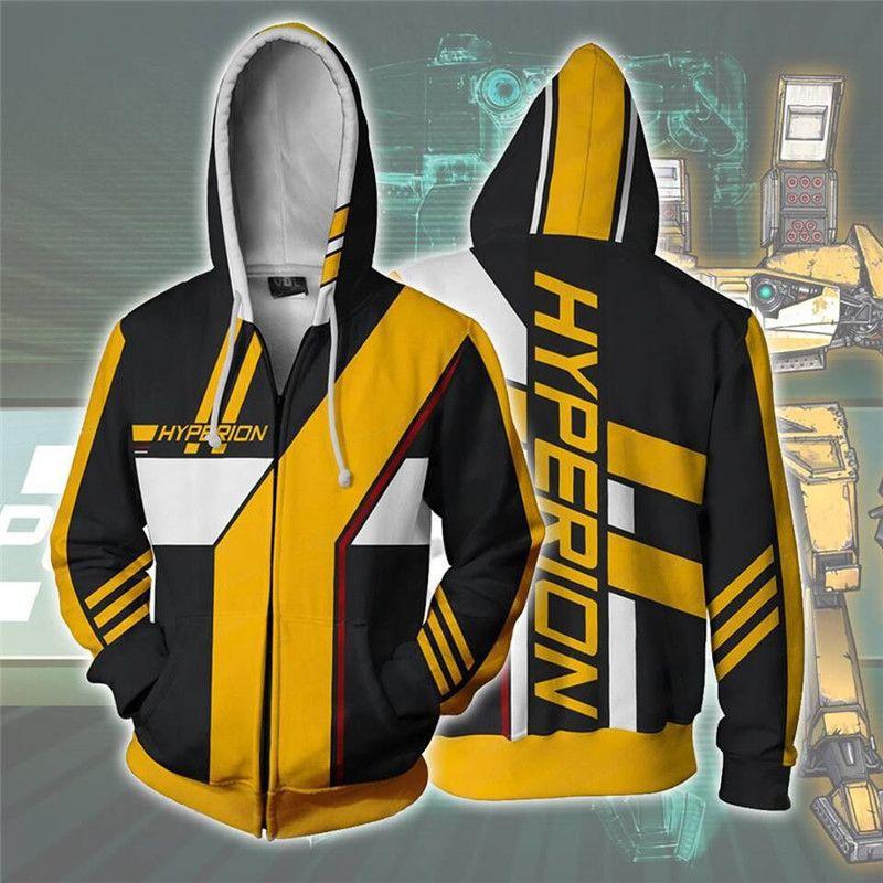 A camisola dos homens Borderlands 3D Hoodies Women / Men manga comprida Casual com capuz Cosplay Moletons MX200813 homem Streetwear coat