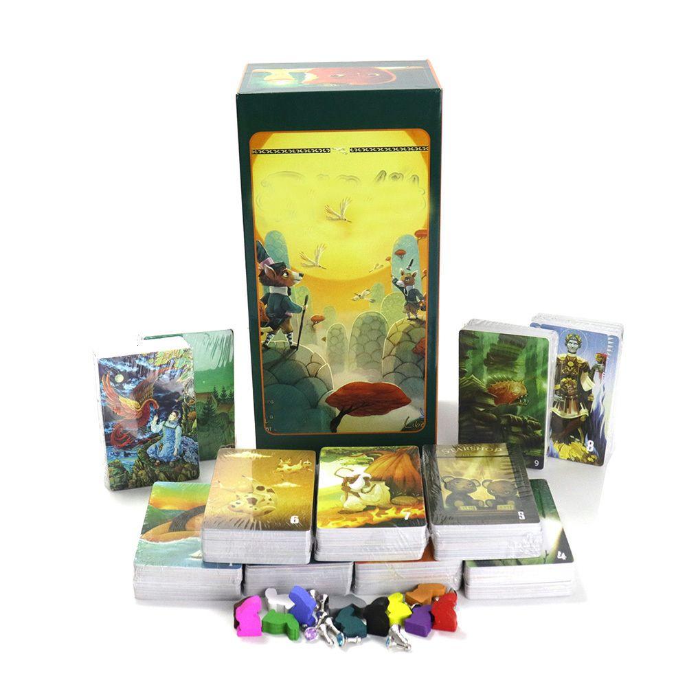 mini-plataforma 1 + 2 + 3 + 4 + 5 + 6 + 7 + 8 + 9 + 10 + 11 jogo de tabuleiro, o total de 858 cartões, História Conte melhorar imaginação para jogos de cartas partido crianças família
