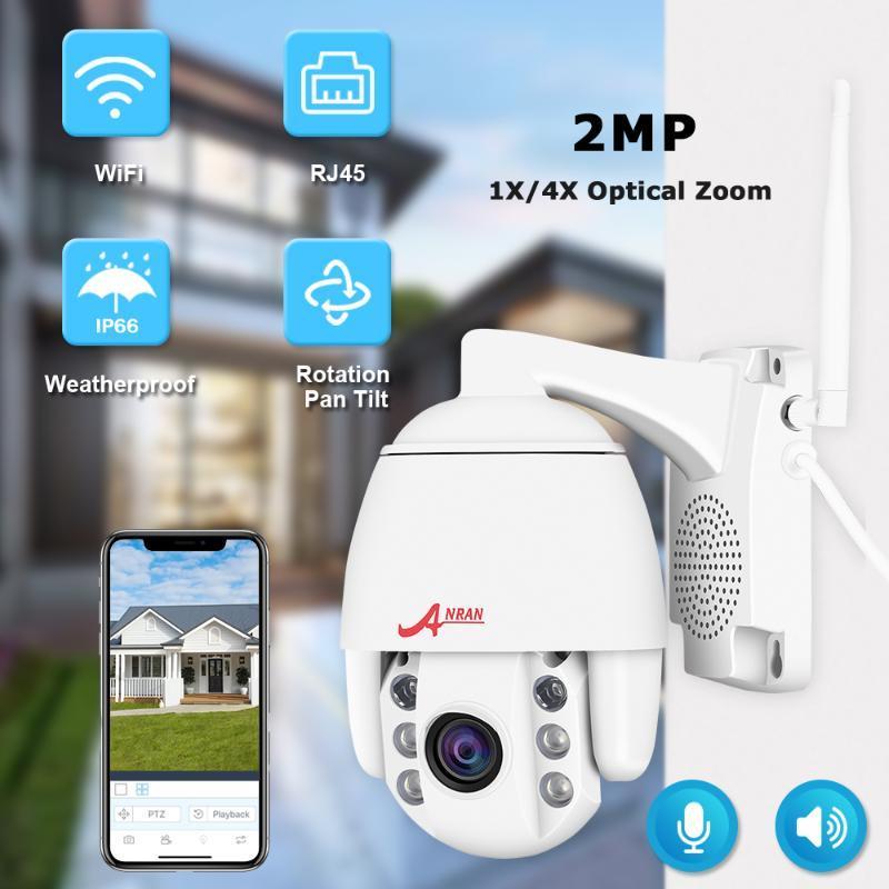 1080P 2-мегапиксельная PTZ IP камеры Wifi Открытый Водонепроницаемый мини купольная камера H.265 CCTV безопасности Системы видеонаблюдения