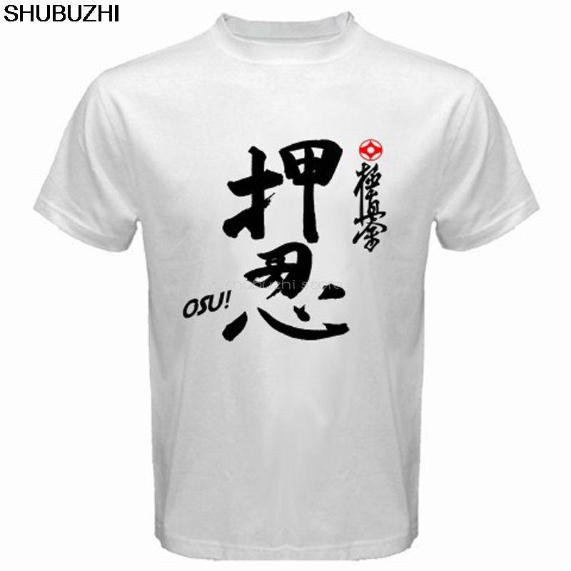 Новый Каратэ Киокушинкай ОГУ! Япония боевого искусства Мужская белая футболка Прохладный Повседневная гордость тенниски людей Unisex New sbz6475