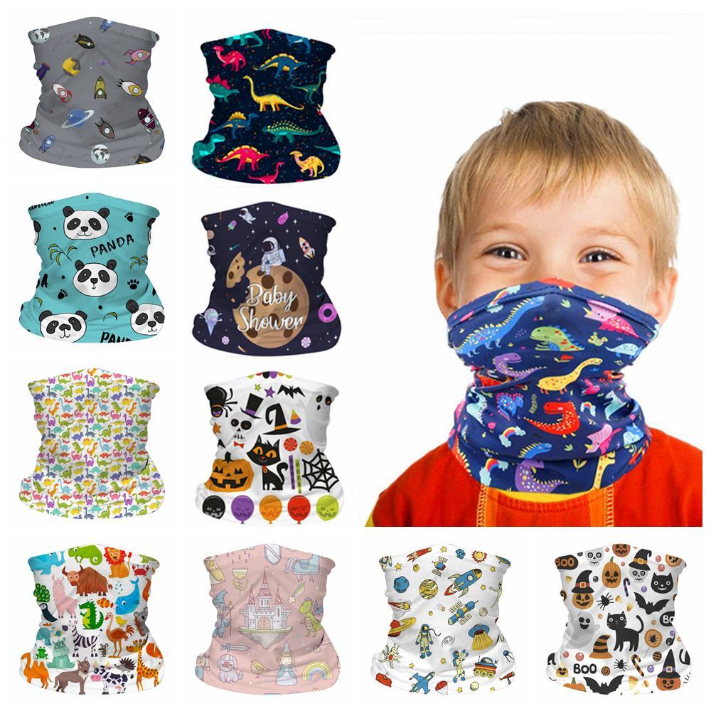 Kids Face Mask Бесшовного пыла мультфильм шея Gaiter шарф ветрозащитных Солнцезащитный ребенок дышащей Бандана для наружного велоспорта FFA4375
