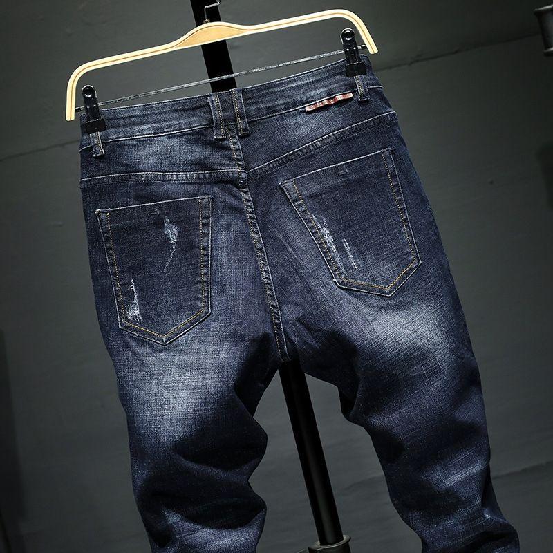 tJqpU Stretch İnce düz pantolon gözde ve erkek sonbahar 7032 kot pantolon ve kış yeni erkek kot maşası uyacak
