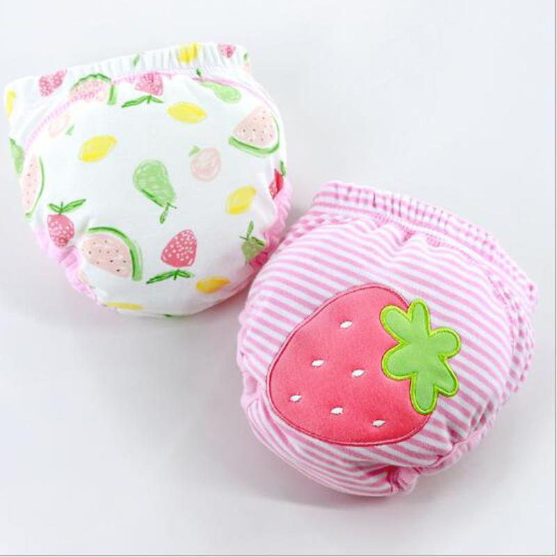 2 Pcs Cute Adjustable Cotton Baby Washable Cloth Diaper Training Pants Reusable Nappies Soft Material Baby Clothing
