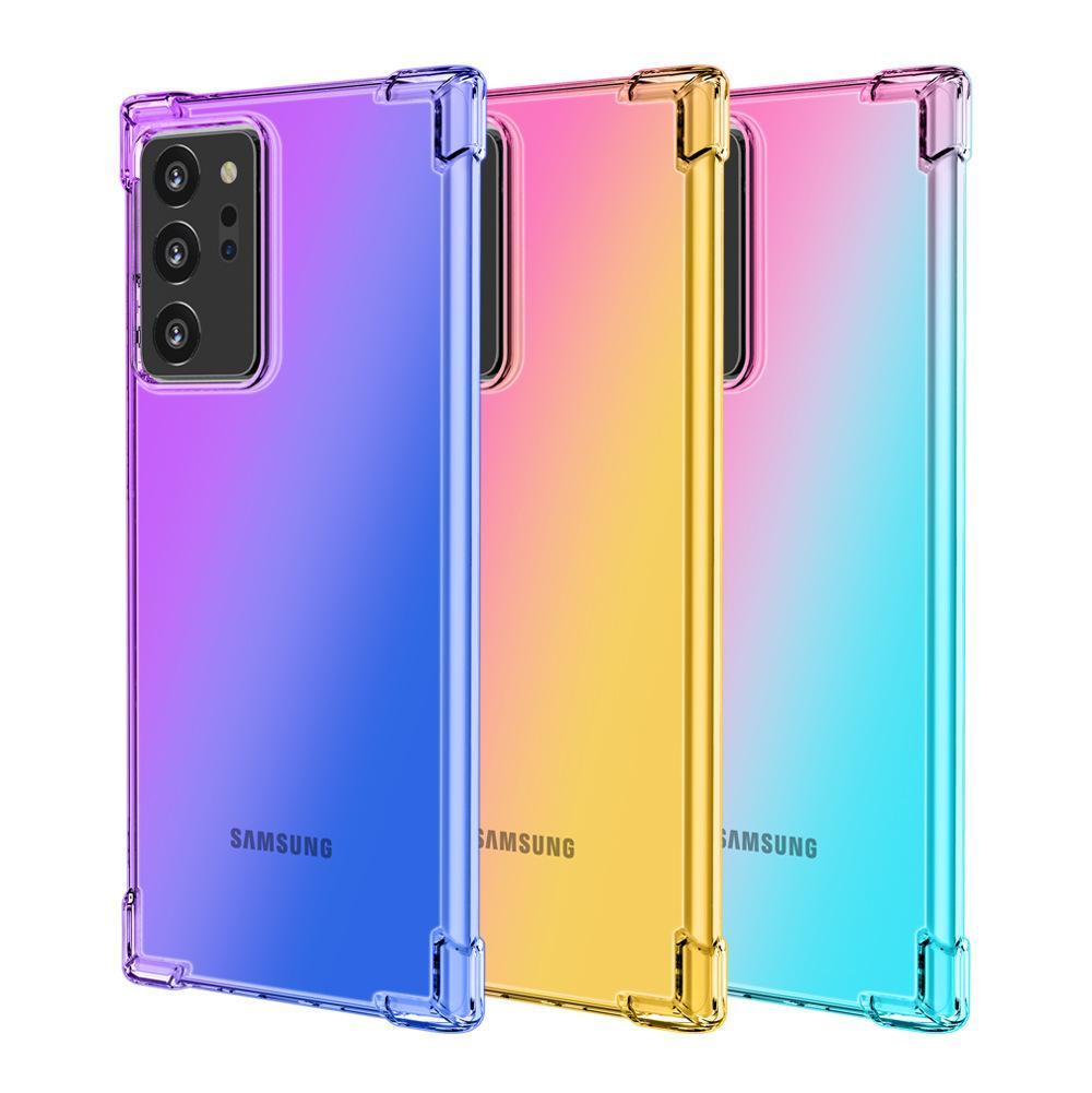 Samsung Galaxy Note 20 Ultra S20 Artı M51 M11 M31 M01 net TPU Kılıf için Gradient Yumuşak Silikon Kılıf