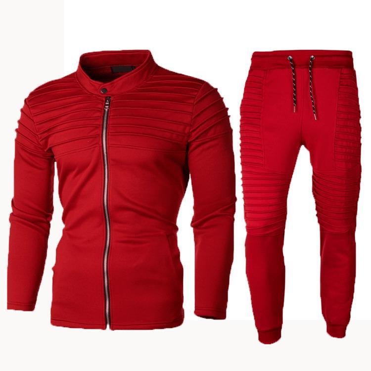 Nuove della tuta con cappuccio autunno abiti di moda con cappuccio ansima gli insiemi a due pezzi set di moda con cappuccio Felpe Sportswear Uomini T200821