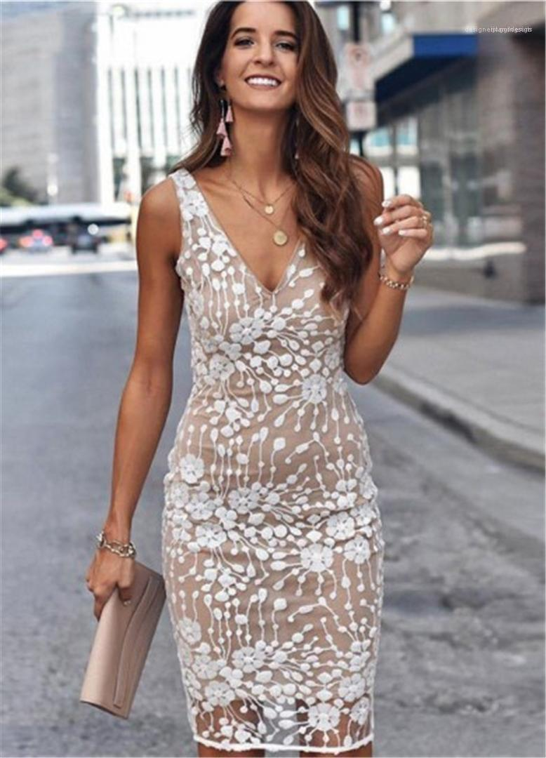 Paillettes Designer Femme Floral Robes Casual manches col en V profond Femmes Mode Robes taille haute Robe sexy