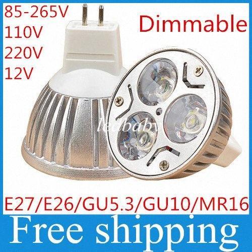 GU10 GU5.3 E27 E26 MR16 3W Dimmable LED Sport Light светодиодные лампы Теплый Холодный белый 80W DC12V AC 110V 220V 240V 7yMF #