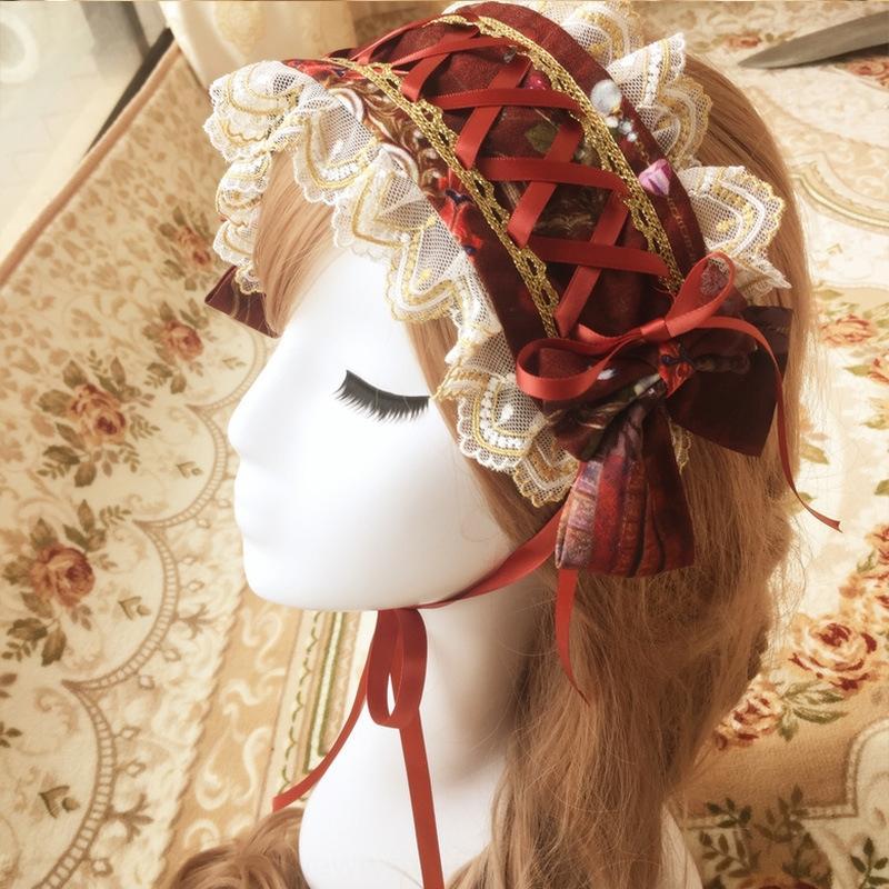 Brocade сад Tianguo сад серия цифровой печать Ла Lita кружева галстук группы волос банта кружево волос три группа цвет kL3M2