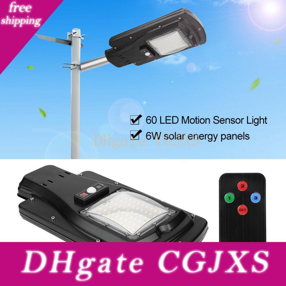 60led Güneş Enerjili Hareket Sensörü Sokak Işık Açık Duvar Lambası Güvenlik Spot Aydınlatma Su geçirmez
