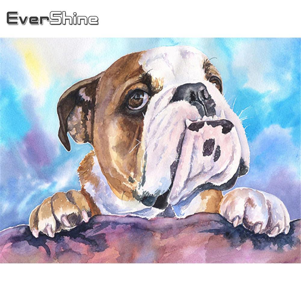 стены искусство Алмазные вышивок собака Ремесло Полные площади Алмазной Картина Животные горного хрусталь Изображение Home Decor подарок