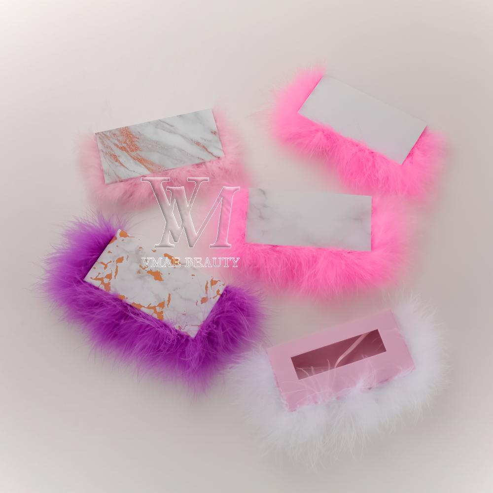 개인 레이블 로고 솜털 자석 깃털 긴 사각형 상자 가짜 속눈썹 포장 상자 메이크업 도구 속눈썹 패키지 DHL 무료