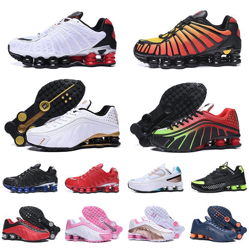 chaussures nike shox tl yeni varış OG R4 üçlü siyah erkekler kadınlar koşu ayakkabıları platformu 301 Lime Blast teslim erkek eğitmen spor ayakkabı sneakers